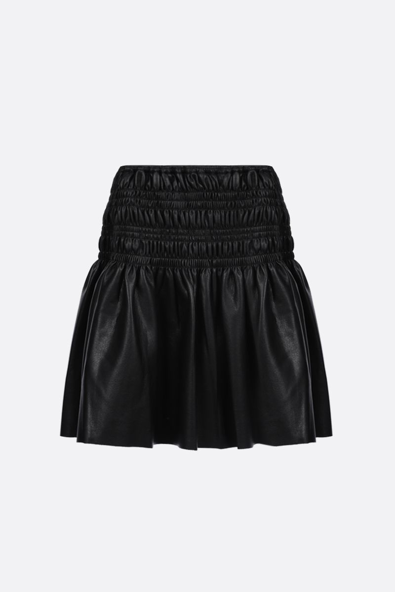 SELF PORTRAIT: soft faux leather miniskirt Color Black_2