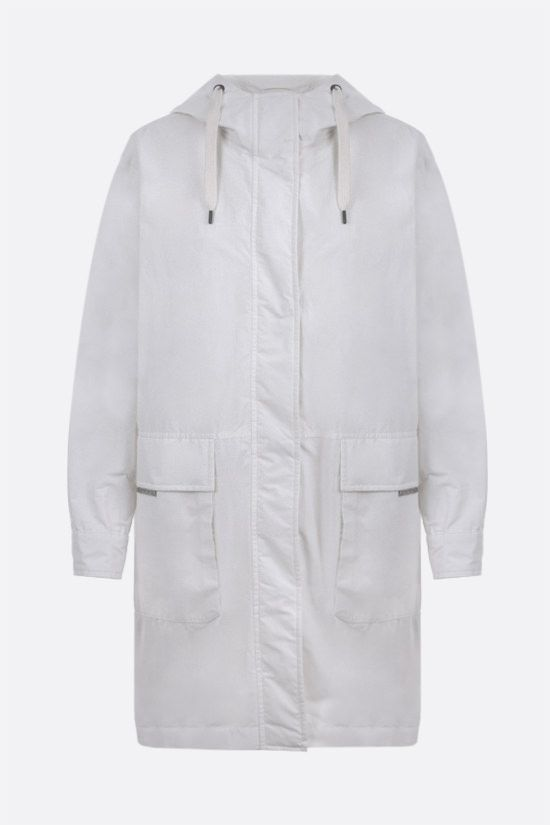 BRUNELLO CUCINELLI: monili-detailed technical cotton parka Color White_1