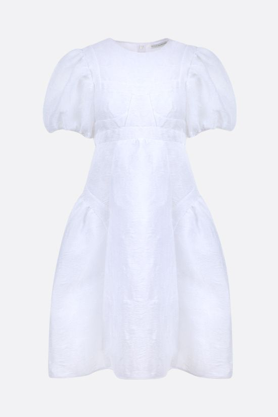 CECILIE BAHNSEN: Caitlin quilted organdy short dress Color White_1