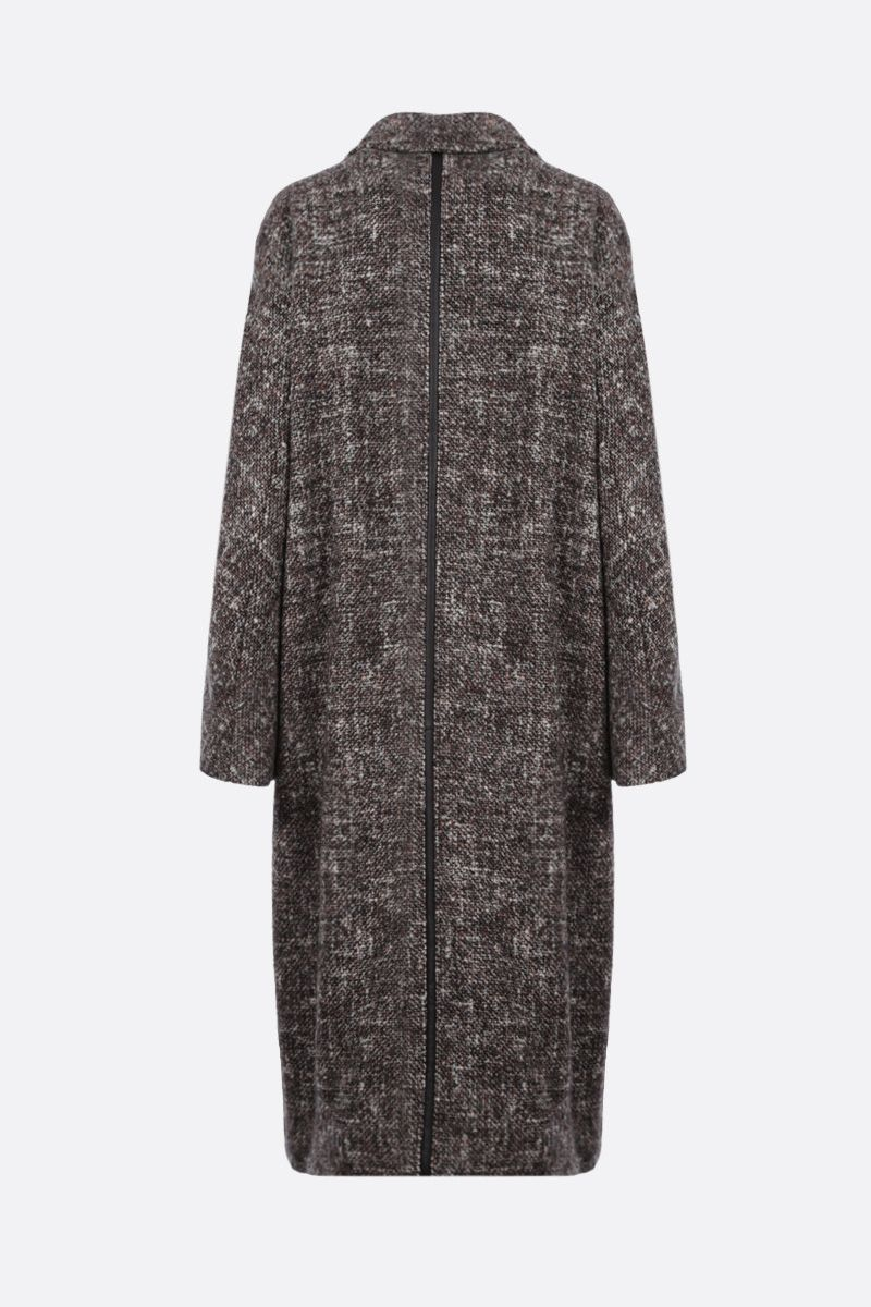 MAX MARA ATELIER: Teatino wool alpaca blend double-breasted coat Color Brown_2