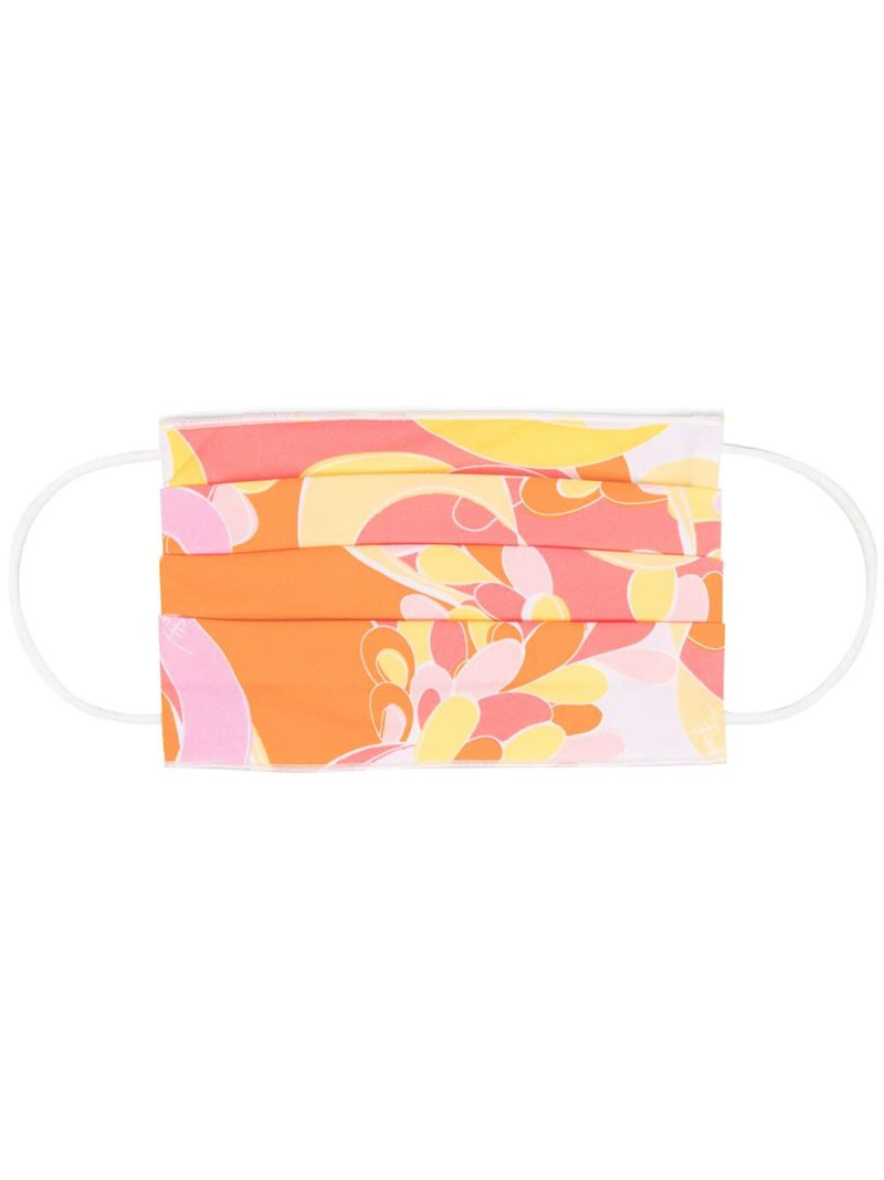 EMILIO PUCCI: Lilly print nylon face mask Color Yellow_1
