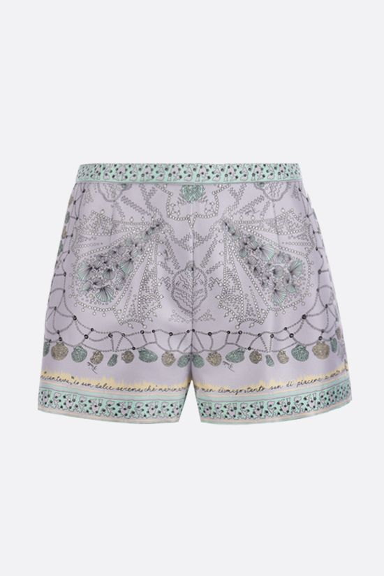 EMILIO PUCCI: seashell print silk shorts Color Purple_1