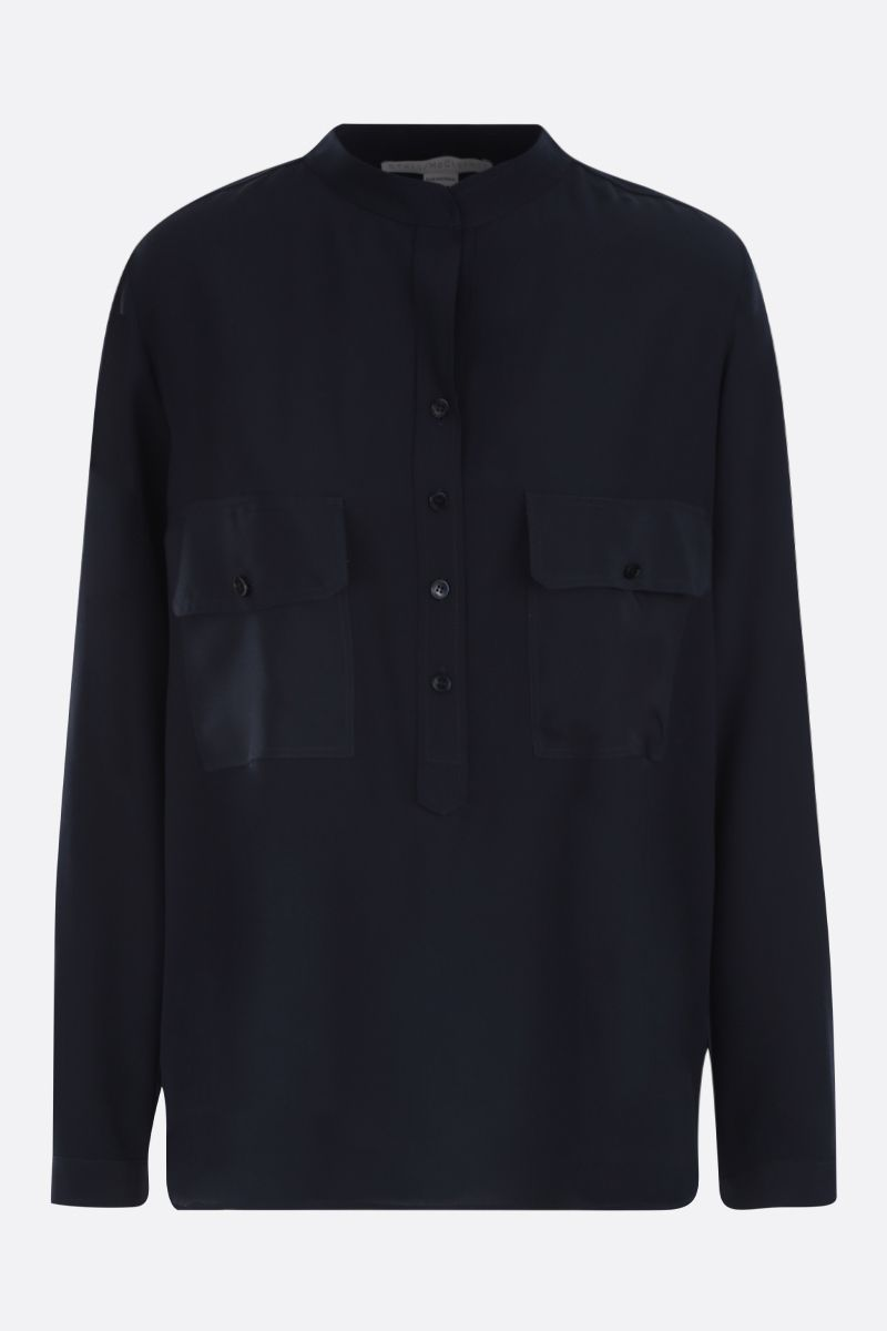 STELLA McCARTNEY: crepe de chine blouse Color Black_1