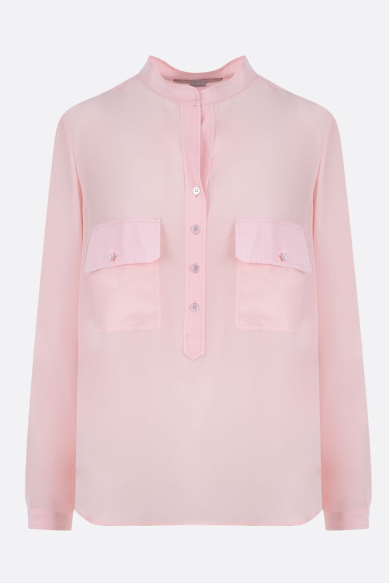 STELLA McCARTNEY: crepe de chine blouse Color Pink_1