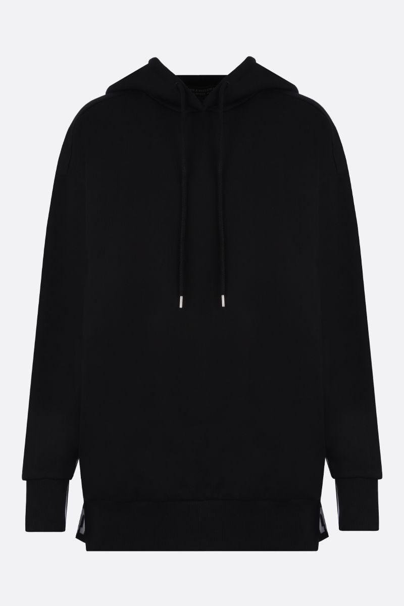 STELLA McCARTNEY: 23 Old Bond St. London band-detailed cotton oversize hoodie Color Black_1
