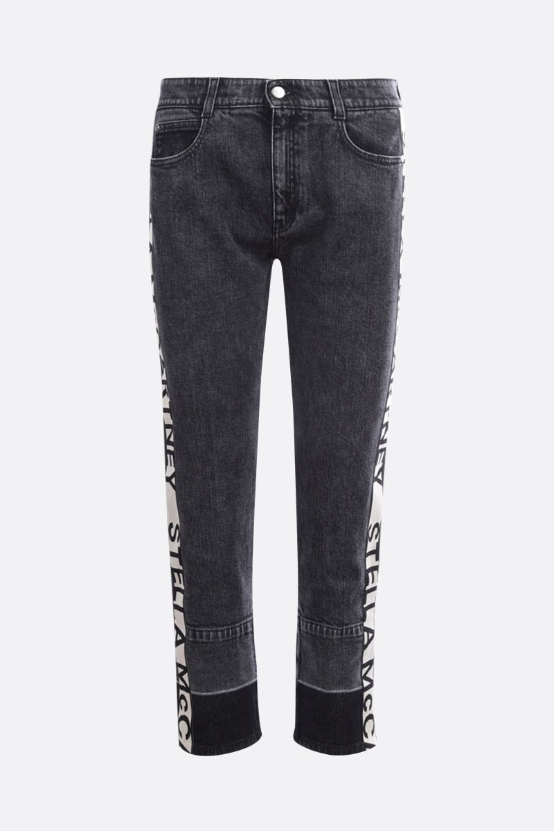 STELLA McCARTNEY: logo tape-detailed skinny jeans_1