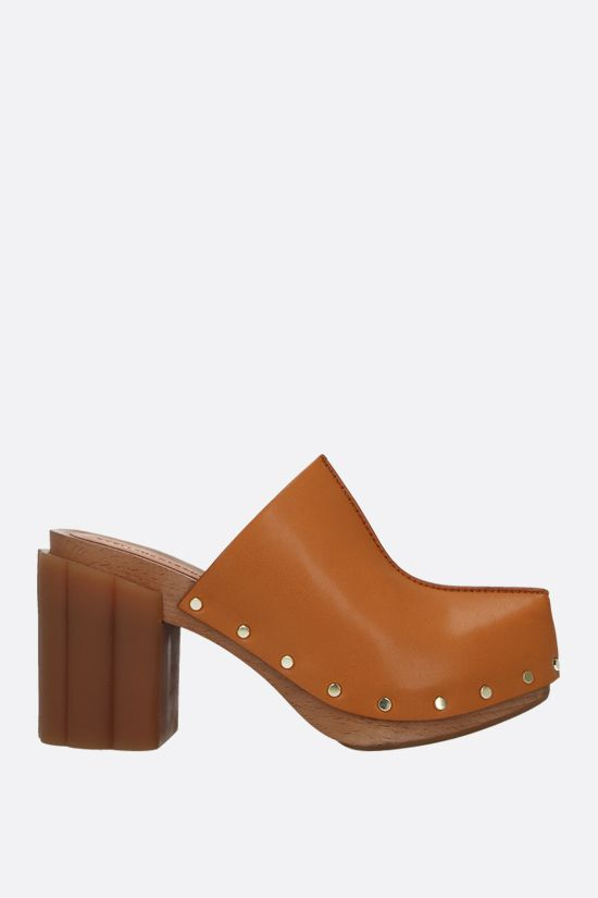 STELLA McCARTNEY: Daisy mules in Alter Mat Color Brown_1