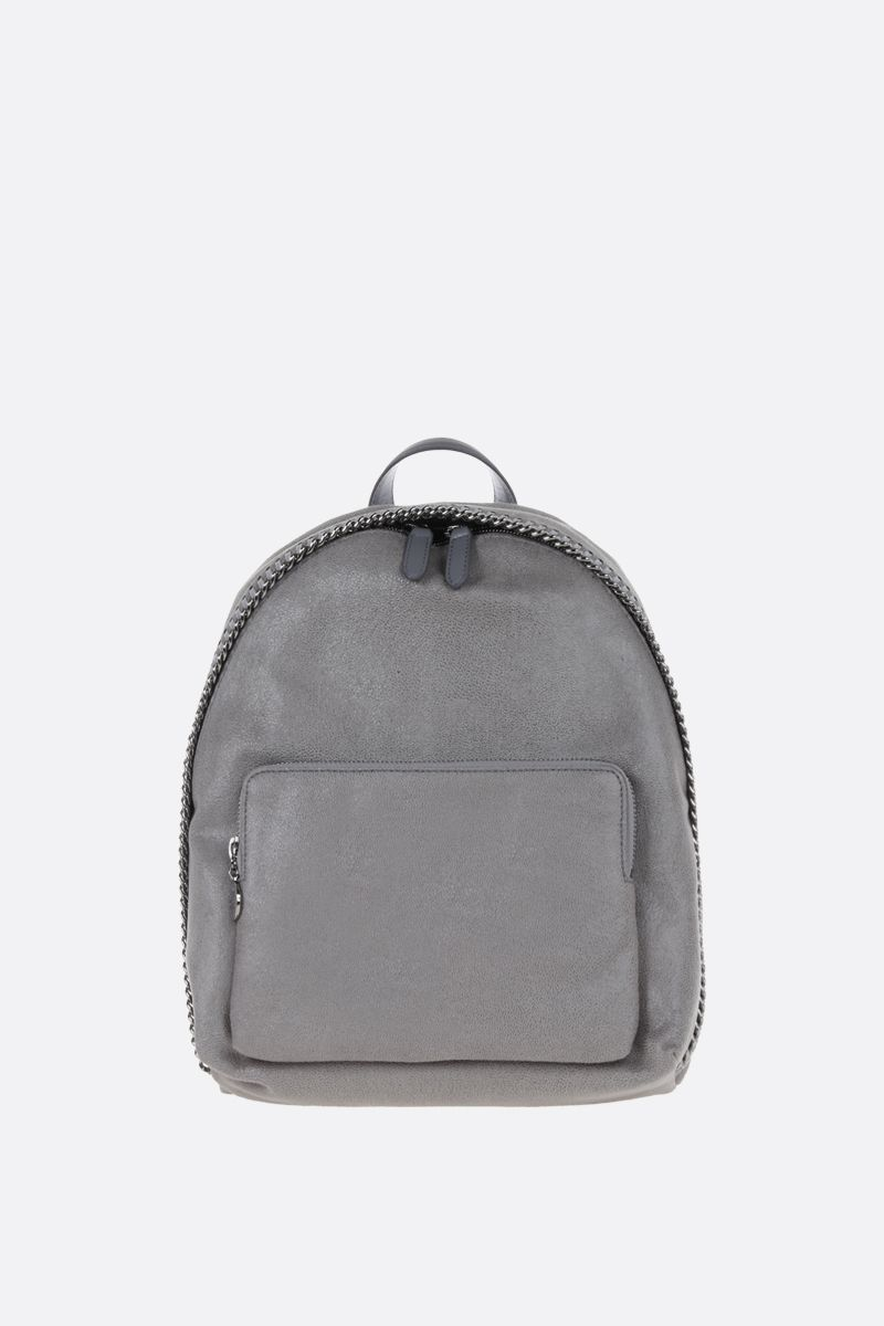STELLA McCARTNEY: Falabella Small backpack in Shaggy Deer Color Grey_1