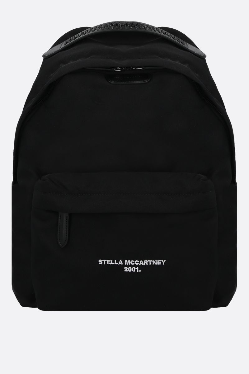 STELLA McCARTNEY: Stella Logo backpack in ECONYL® Color Black_1