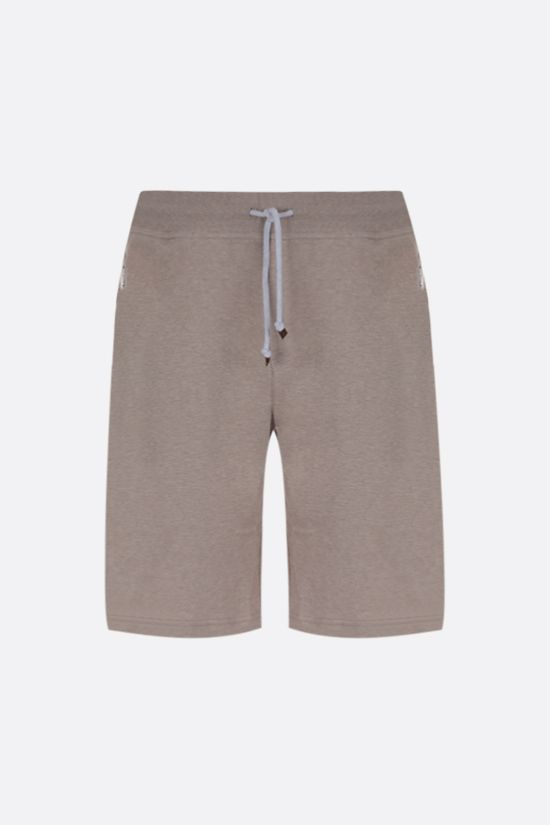 BRUNELLO CUCINELLI: cotton blend shorts Color Brown_1