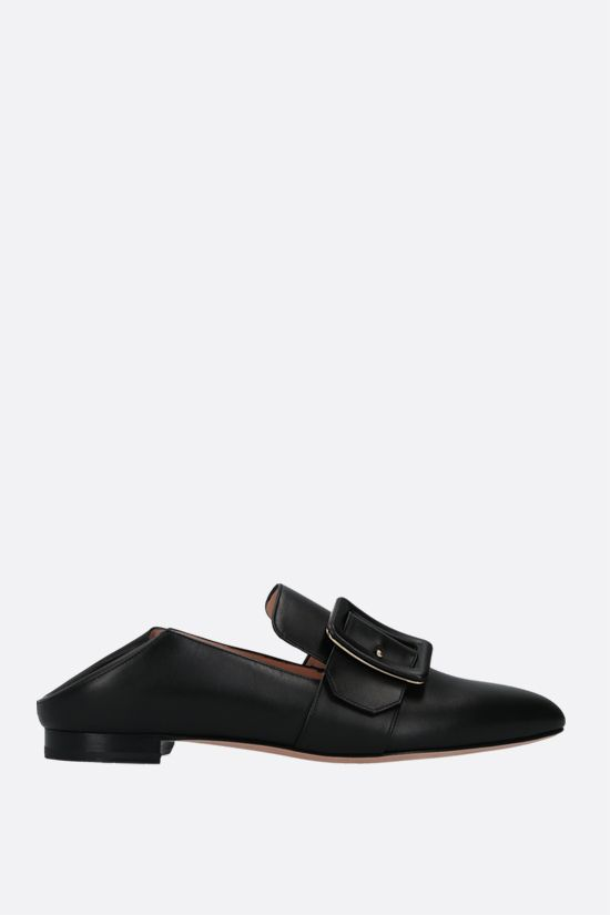 BALLY: Janelle smooth leather slippers Color Black_2