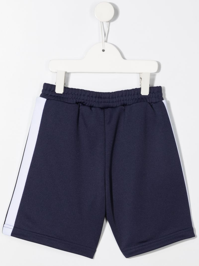 PALM ANGELS KIDS: technical jersey shorts Color Blue_2