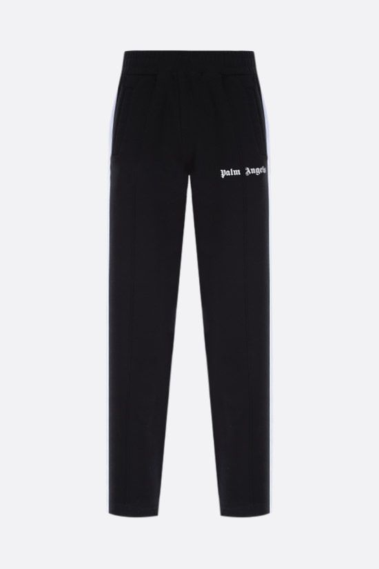 PALM ANGELS: contrasting bands cotton joggers Color Black_1