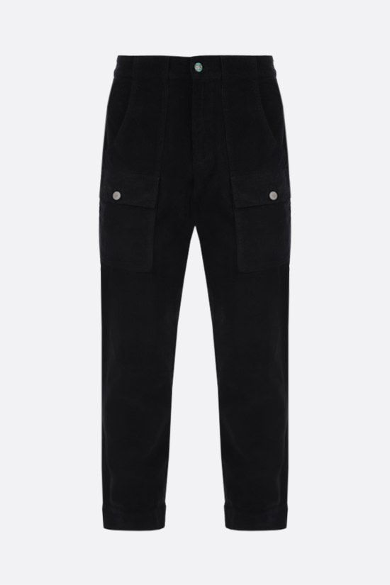 PALM ANGELS: corduroy cargo pants Color Black_1