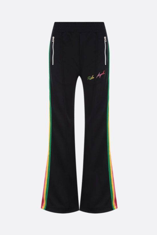 PALM ANGELS: Miami Logo technical jersey joggers Color Black_1