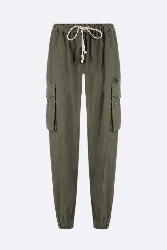 PALM ANGELS: lightweight cotton cargo pants Color Green_1