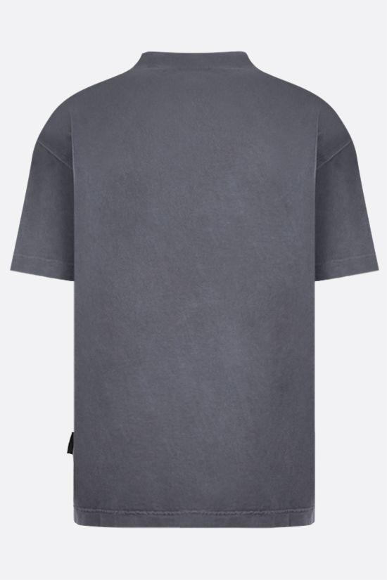 PALM ANGELS: t-shirt Curved Logo in cotone Colore Nero_2