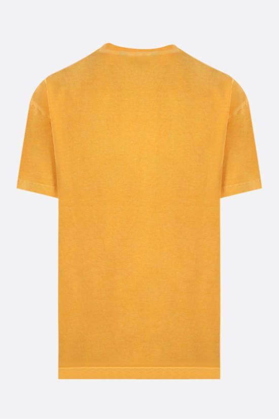 PALM ANGELS: t-shirt Curved Logo in cotone Colore Giallo_2