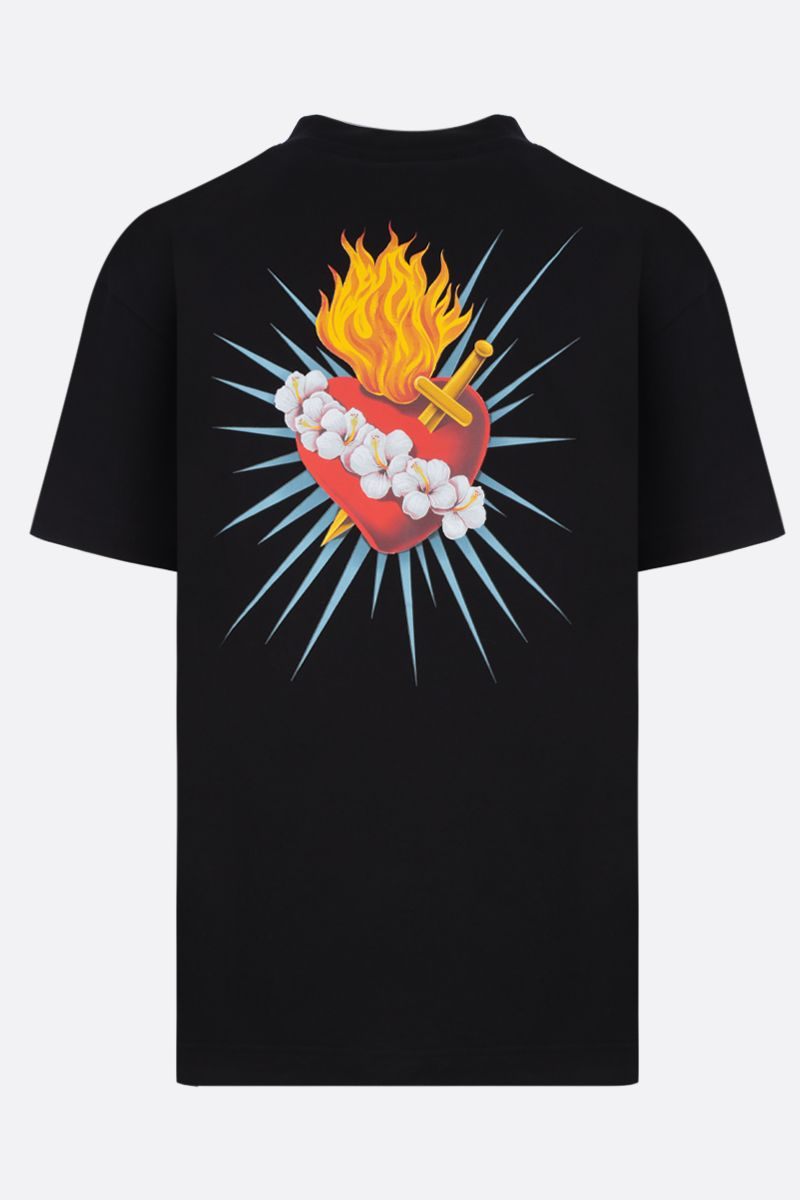 PALM ANGELS: t-shirt Sacred Heart in cotone Colore Multicolore_2