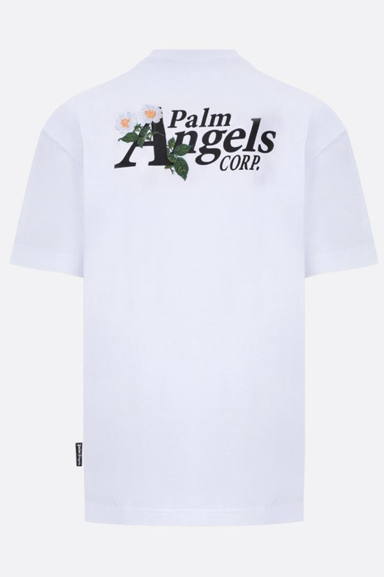 PALM ANGELS: t-shirt Daisy Logo in cotone Colore Bianco_2