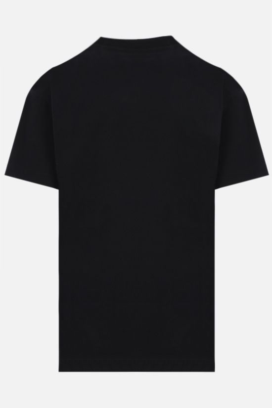 PALM ANGELS: t-shirt LA Sprayed Logo in cotone Colore Nero_2
