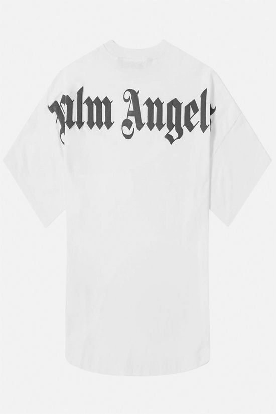 PALM ANGELS: Palm Angels print cotton t-shirt Color White_2