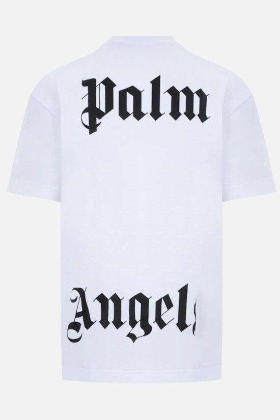 PALM ANGELS: t-shirt oversize Fishing Club in cotone Colore Bianco_2