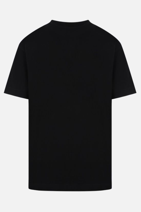 PALM ANGELS: Daisy Logo oversize cotton t-shirt Color Black_2