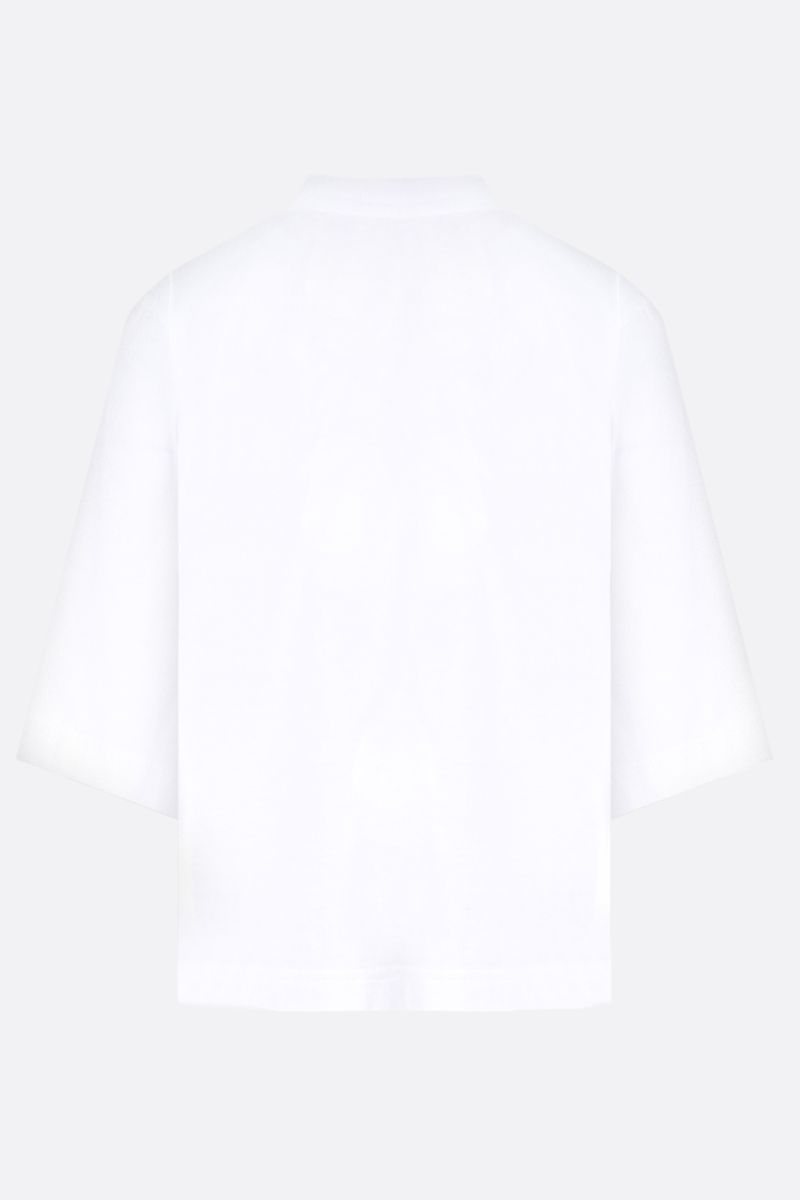 PALM ANGELS: Sprayed Palm Angels Bear cropped cotton t-shirt Color White_2