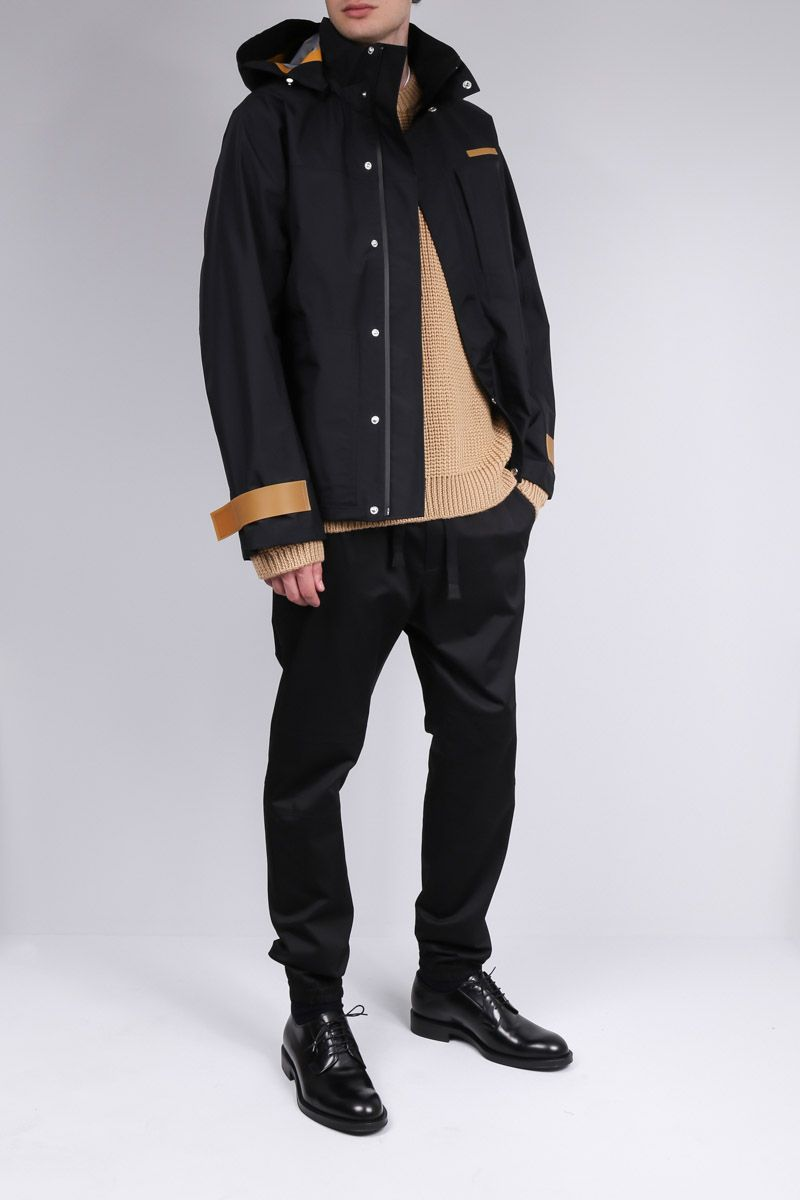 HELMUT LANG: technical fabric windbreaker Color Black_2