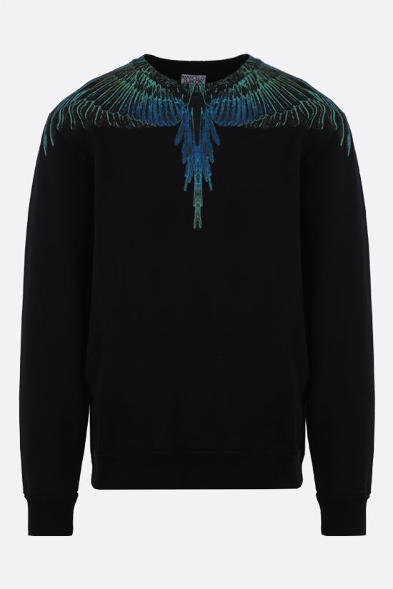 MARCELO BURLON COUNTY OF MILAN: Wings cotton sweatshirt Color Black_1