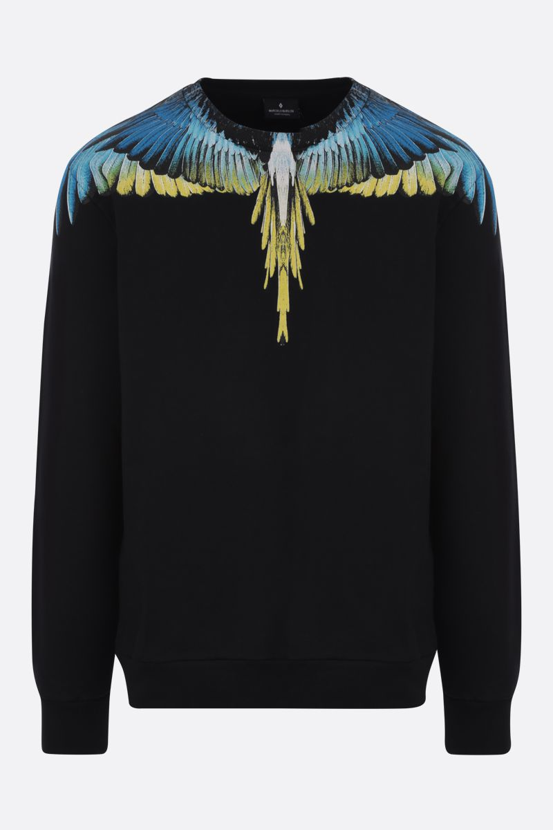 MARCELO BURLON COUNTY OF MILAN: felpa in cotone stampa Wings_1