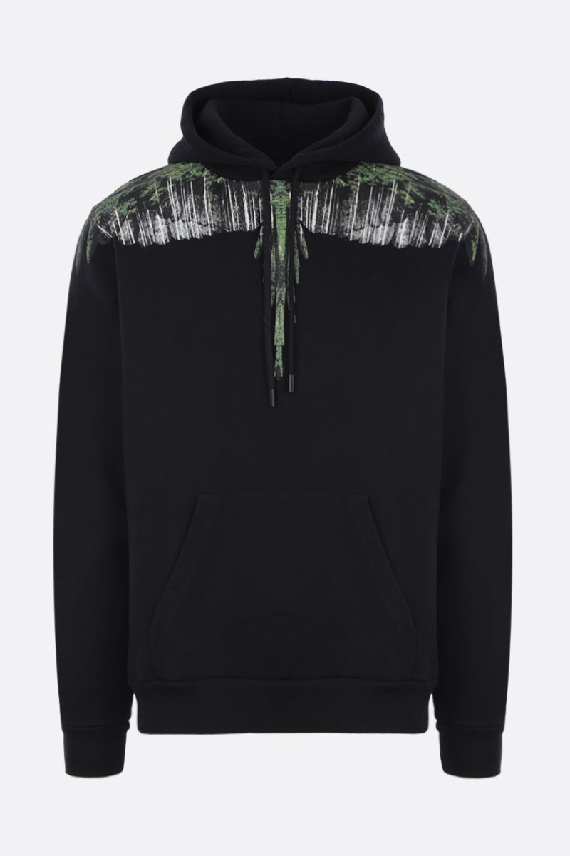 MARCELO BURLON COUNTY OF MILAN: felpa in jersey stampa Wood Wings Colore Nero_1