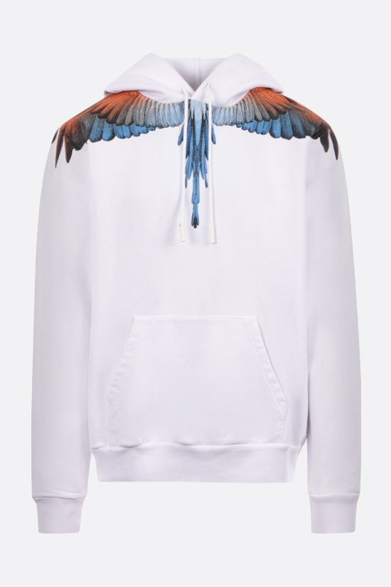 MARCELO BURLON COUNTY OF MILAN: Wings cotton hoodie Color White_1