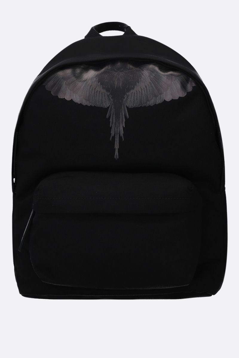 MARCELO BURLON COUNTY OF MILAN: zaino Wings in nylon Colore Nero_1