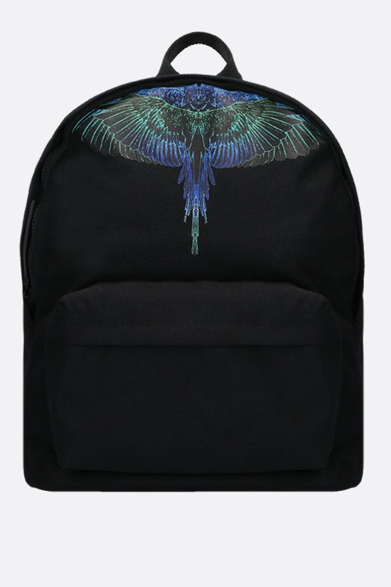 MARCELO BURLON COUNTY OF MILAN: Wings nylon backpack Color Black_1
