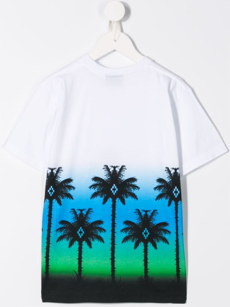 MARCELO BURLON KIDS OF MILAN: Palms print jersey t-shirt Color Multicolor_2