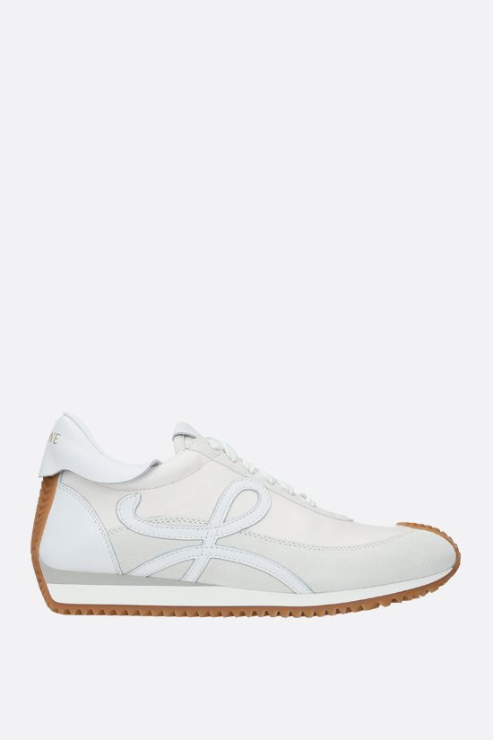 LOEWE: Flow soft nappa and suede sneakers Color White_1