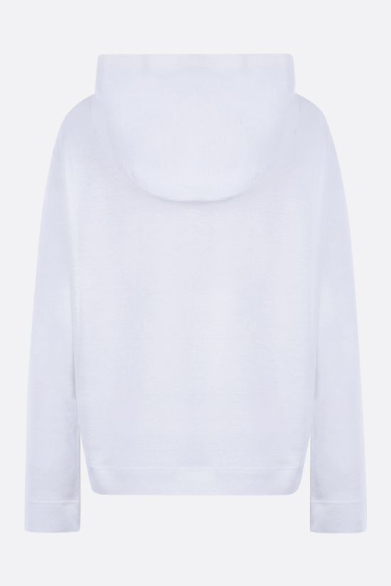 LORO PIANA: stretch linen full-zip hoodie Color White_2