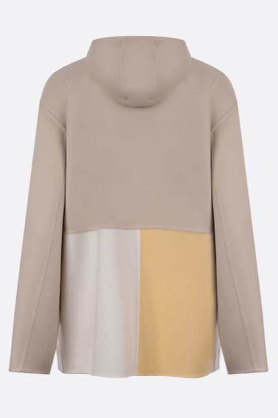 LORO PIANA: colour-block cashmere full-zip jacket Color Neutral_2