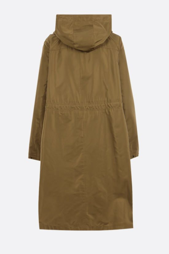 LORO PIANA: Blaise Short technical silk raincoat Color Brown_2
