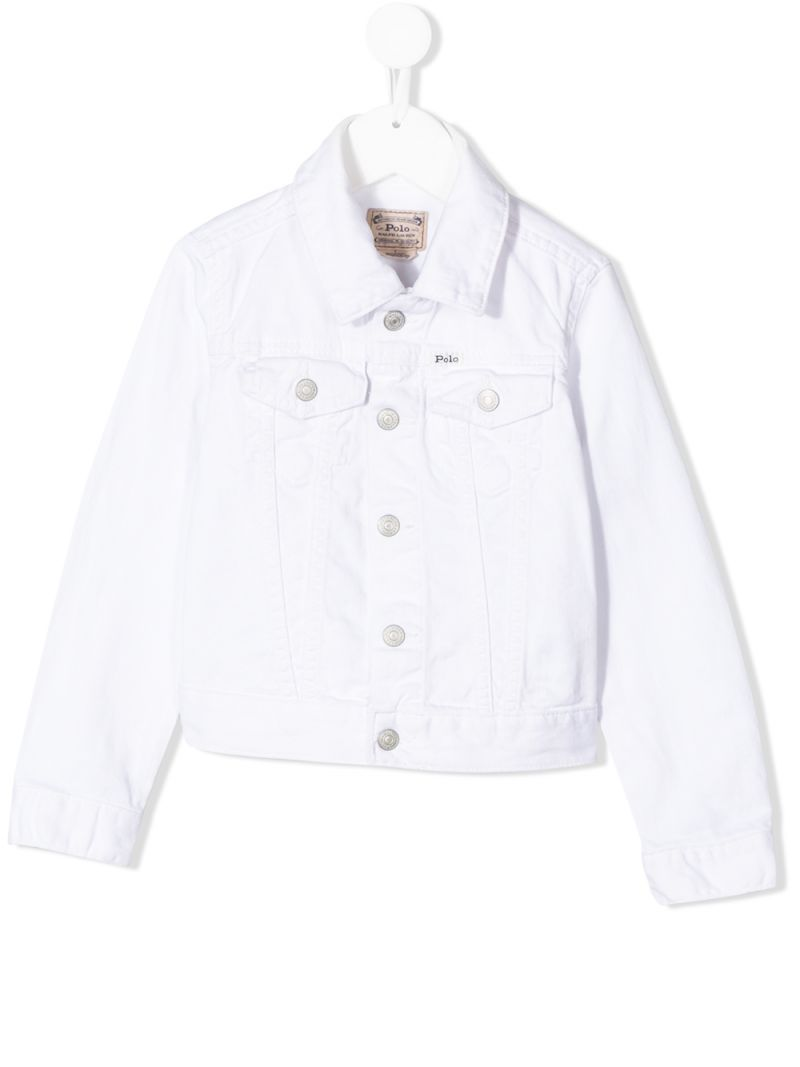 RALPH LAUREN KIDS: Polo label denim jacket Color Blue_1