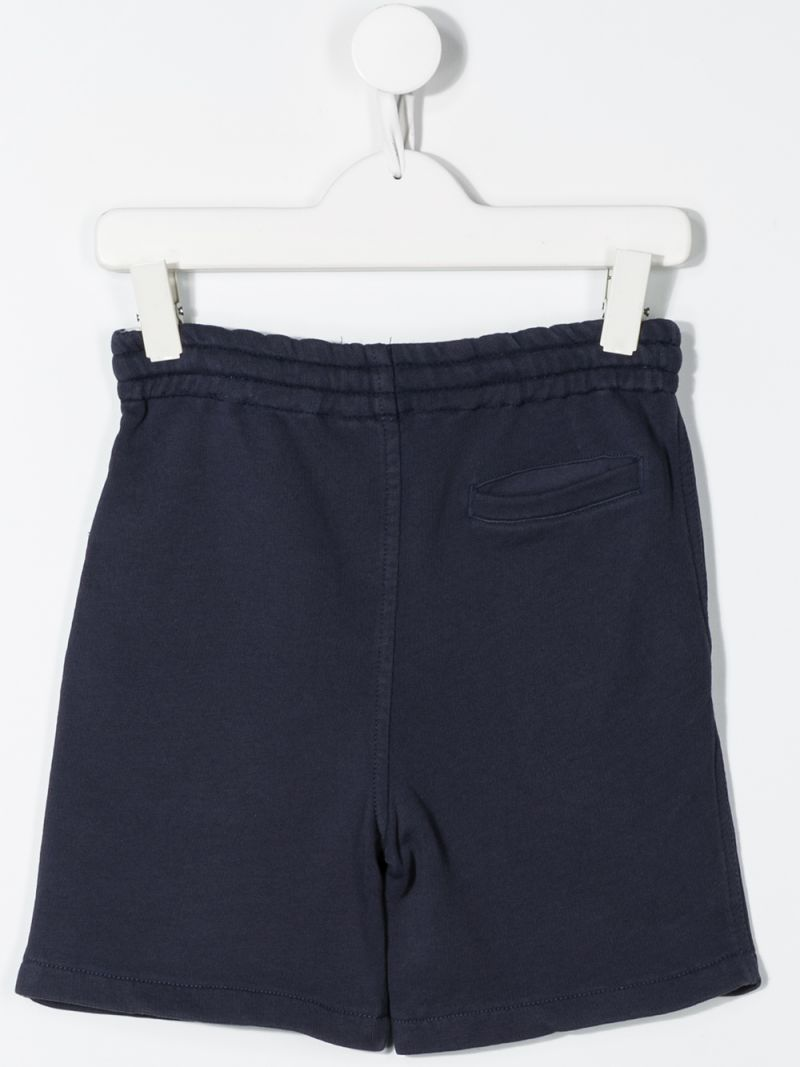 RALPH LAUREN KIDS: P print cotton shorts Color Blue_2