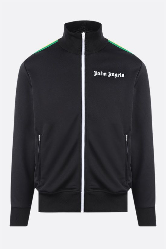 PALM ANGELS: felpa full-zip Exodus in jersey tecnico Colore Nero_1