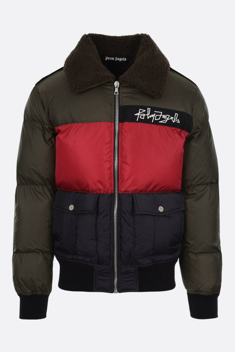 PALM ANGELS: Desert Logo nylon padded jacket Color Multicolor_1