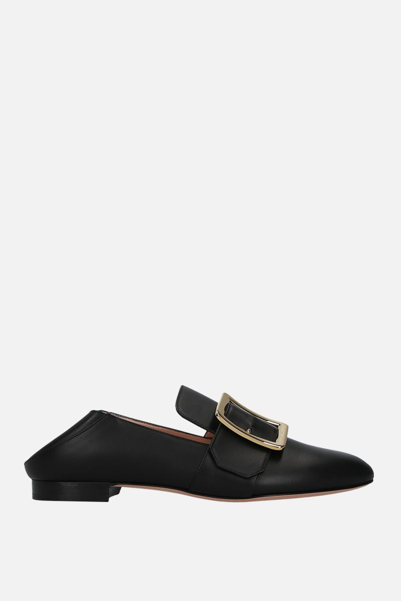 BALLY: Janelle slippers in smooth leather Color Black_2