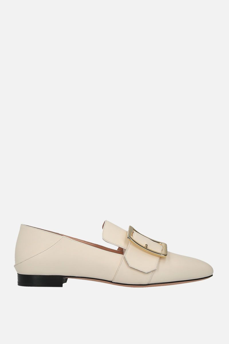 BALLY: Janelle slippers in smooth leather_1