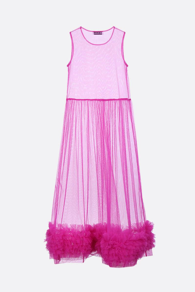 MOLLY GODDARD: Alison tulle sleeveless dress Color Purple_2