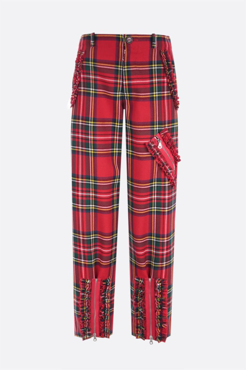 MOLLY GODDARD: Franko frilled wool pants Color Red_1