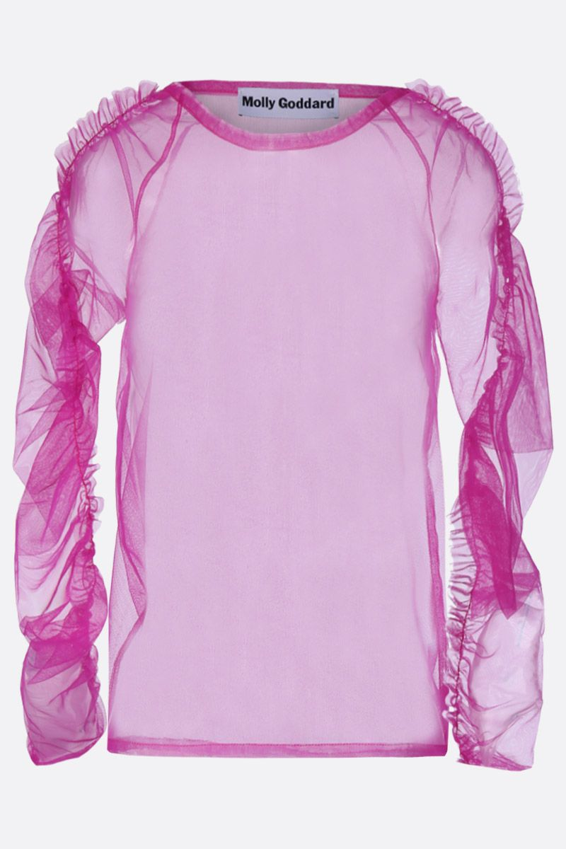 MOLLY GODDARD: top Una in tulle Colore Rosa_1